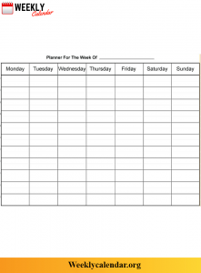 Weekly Calendar With Time