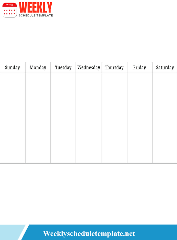 Free Printable Weekly Schedule Templates