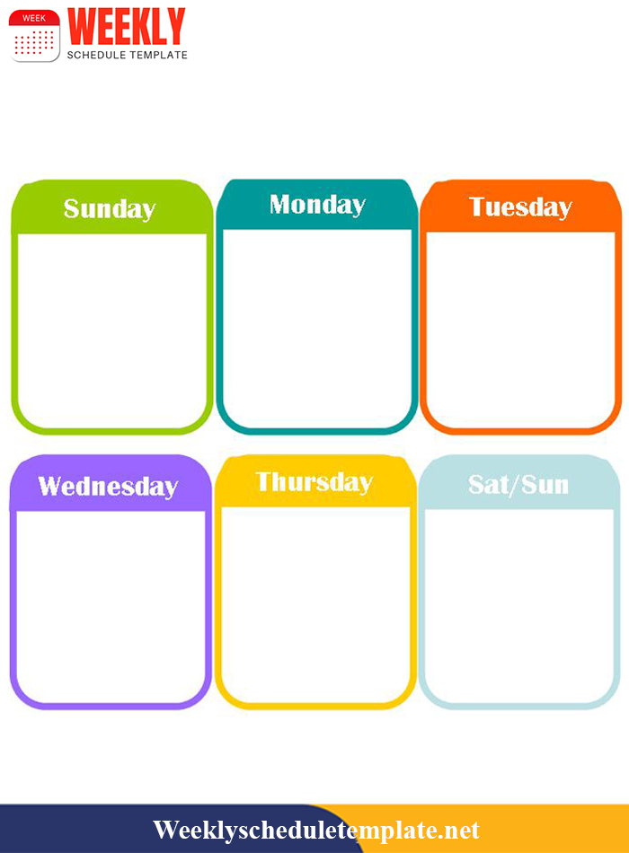 Printable Weekly Planner Template 2019 in PDF